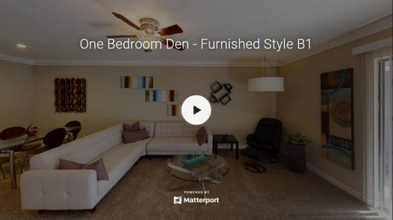 One Bedroom Den - Furnished Style B1